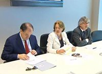 Foto conferenza stampa per la presentazione del progetto